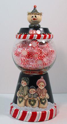 Snowman Candy Machine