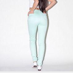 American apparel blue pants light blue jeans American Apparel Pants Straight Leg