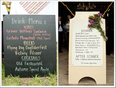 Country Barn Wedding Menu Displayfarm