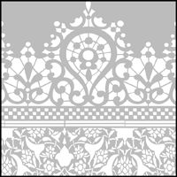 The Lace Border stencil - price £96.00