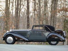 1934 Rolls-Royce Phantom ll Continental Sedanca Drophead Coupe by Mulliner Retro Cars, Vintage Cars, Antique Cars, Classic Motors, Classic Cars, Automobile, Rolls Royce Cars, Roadster, Rolls Royce Phantom