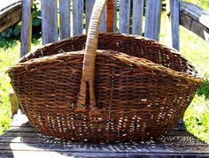 Basket Vintage Market by redemptionart on Etsy, $38.00