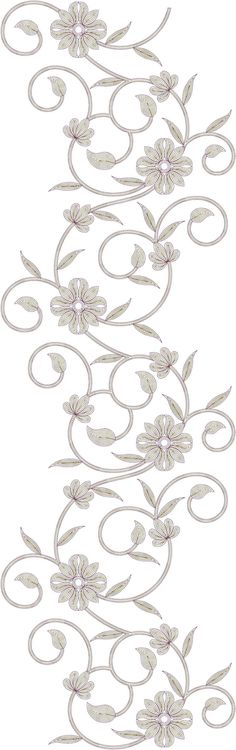 All over garment Embroidery Design Hand Embroidery Stitches, Machine Embroidery Designs, Embroidery Patterns, Motifs, Designs To Draw, Fashion Pants, Embellishments, Stencils, Drawings