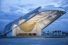 Santiago Calatrava's newMuseu do Amanhã (The Museum of Tomorrow) in the Puerto Maravilha neighborhood ofRio de Janeiro. Description from hyperallergic.com. I searched for this on bing.com/images