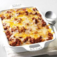 Spaghetti Pie Casserole Recipe -My family adores this casserole. It's old-timey comfort food. —Patricia Lavell, Islamorada, Florida