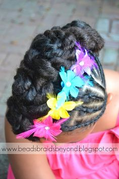 Magnificent Beads Braids And Beyond Easter Updo For Little Girls With Short Hairstyles Gunalazisus