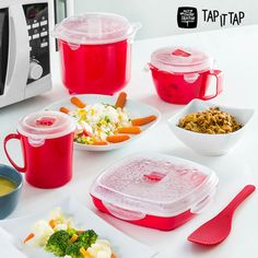 Microwave Steamer Set Kitchen Cooking  Food 11-pieces