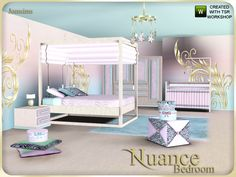 Sims 4 bunk bed cc furniture sims 4 cc bunk beds the sims resource nuance bedroom Sims 3 Rooms, Sims 4 Bedroom, Bedroom Sets, 4 Bunk Beds, Toddler Bunk Beds, Sims 4 Cc Furniture, Home Furniture, Sims 4 Toddler, Play Sims