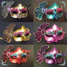 12 Mardi Grass Mask Maquerade Ball Mask by InAweCreationbyDiana