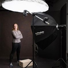 So if you were following along with my story this is the final set up I went with, if not here is a random selfie of me in the studio this morning! #bts #charleston #exploretocreate #profoto #photographer #studio #studiophotography #resourcemag