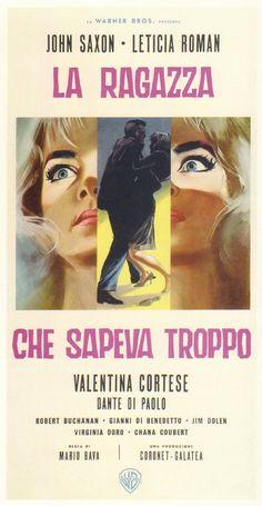 La ragazza che sapeva troppo (The Evil Eye), 1963 - Italian poster