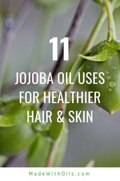 Jojoba Oil Uses For Beautiful Skin, Hair, & Health Benefits Organic Face Products, Organic Skin Care, Natural Skin Care, Skin Products, Natural Products, Natural Cures, Natural Oils, Natural Health, Natural Hair