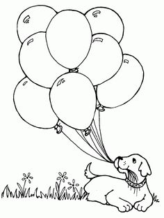 Free Printable Balloon Coloring Pages Balloons