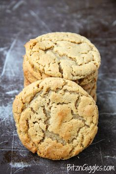 Greatest Peanut Butter Cookies 1 cup peanut butter 1 stick butter 1 large egg beaten 1 1/3 cup brown sugar 2/3 cup flour 3/4 tsp vanilla 1 tsp baking soda