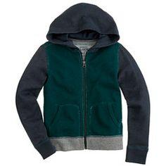 Boys' colorblock terry zip hoodie