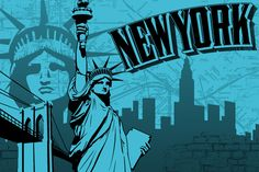 Today we're going to draw inspiration from one of the most visited cities in the world: New York. I've put together a collection of vector illustrations and an awesome vector pack containing signature elements from the famous city, such as the Statue of Liberty, the Empire State Building, the yellow cabs, the pretzel and bagel stands, the amazing city skyline and more.