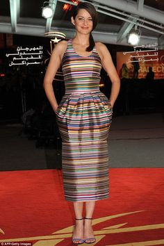 Living color: Marion Cotillard wears a Dior dress while attending the A Thousand Times Good Night during the 2013 Marrakech International Fi...