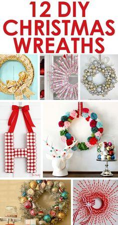 12 DIY Christmas wreaths! by vivian