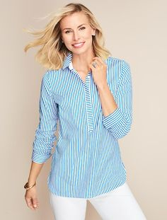 The Perfect Popover-Stripes - Talbots