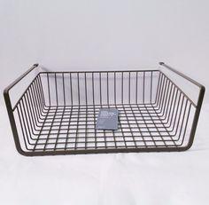 Brown X 1 Wire Storage Basket Under Shelf Rack Space Organizer Multi Purpose