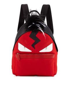 30da0873c7e FENDI monster nylon backpack Fendi Backpack, Backpack Bags, Monster Backpack,  Mens Tote Bag