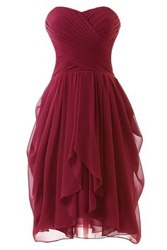 Prom Queen Women's Short Strapless Chiffon Prom Bridesmaid Dresses: Amazon.ca: Clothing & Accessories