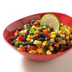 Black bean salad with mango