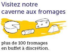 Baud et Millet - Large sélection de fromages en plats & buffet et belle cave à vins, servis dans une salle voûtée