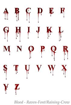 deviantART: More like Stock Font 1 - Blood by Raven- .- deviantART: Mehr wie Stock Font 1 – Blood von Raven- … deviantART: More like Stock Font 1 – Blood by Raven - Graffiti Lettering Fonts, Tattoo Lettering Fonts, Lettering Styles, Creative Lettering, Calligraphy Fonts, Typography, Tattoo Writing Fonts, Tattoo Fonts Alphabet, Hand Lettering Alphabet
