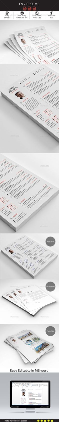Resume Template #design Download http\/\/graphicrivernet\/item - ms resume template
