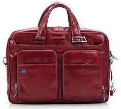 Blue Square 15'' Aktentasche mit Laptopfach Leder rot 39 cm