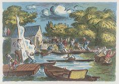 Artist Edward Ardizzone Title Boating Pond Date 1961 History Of Illustration, Children's Book Illustration, Edward Ardizzone, Image Makers, English Artists, Famous Artists, Illustrations Posters, Vintage Illustrations, Art History