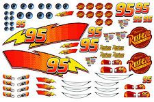 sized sheet of edible icing Lightning McQueen stickers ready to cut out and stick to your cake ( with a little water :). Never used an icing sheet before? Car Themed Parties, Cars Birthday Parties, 2nd Birthday, Lightning Mcqueen Party, Lightening Mcqueen, Disney Cars Party, Disney Cars Birthday, Mc Queen Cars, Festa Pj Masks