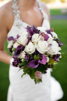 stunning purple wedding bouquet