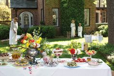 Croquet and Ladies Tea - if I ever have a spring tea party we'll have to play croquet!!!