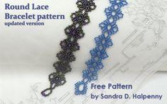 Round Lace Bracelet - free pattern