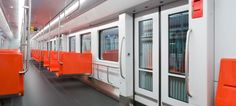 CAF signed a contract to supply new metro units to HLK, the operator of the Helsinki metro system in These new trains will run o. Helsinki, Trains, Public Transport, Urban Design, Interiors, Blue Prints, Finland, Decoration Home, Decor