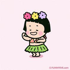 Dance Hula Dance GIF - Dance HulaDance FunnyEve - Discover & Share GIFs
