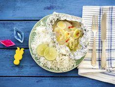 Gestoomde vis met meiraap en kokosrijst