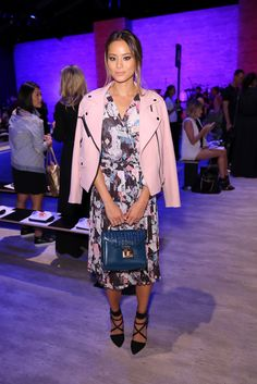 9/5/14 - Jamie Chung at the Rebecca Minkoff Spring 2015 Fashion Show in NYC.