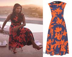 Mindy wore this floral print dress for her Glamour magazine Women of the Year photoshoot!