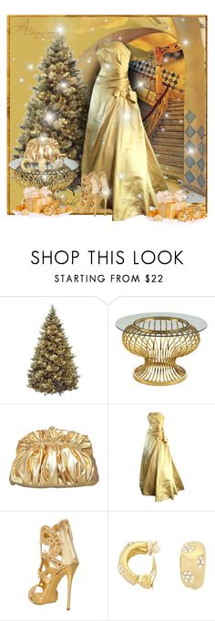 """""""Monochromatic Gold"""" by eula-eldridge-tolliver ❤ liked on Polyvore featuring Gaudì and Giuseppe Zanotti"""