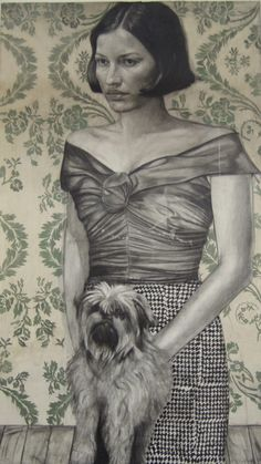 This reminds of my cousin Janice - Janice has a kinder, happier expression - The dog also looks sort of ...