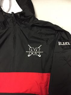 Masco field hockey jacket embroidered left chest logo with name on sleeve