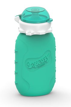 Squeasy Snacker 6oz Silicone Reusable Food Pouch - The easiest to use/clean reusable pouch I've seen.  Silicone is easy to freeze, too.  Great for smoothies, yogurt, applesauce, etc.  And the insert for toddlers makes it a lot less mess than a regular food pouch.  Big fan.