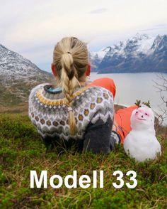 Modell 33 Pudderpikens grå merket Periwinkle, Bean Bag Chair, Knitting, Baby, Design, Scale Model, Crafting, Tricot, Breien
