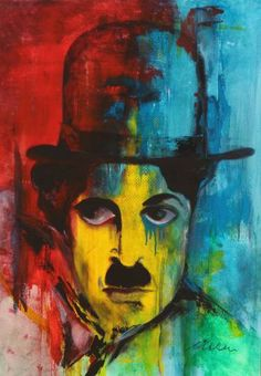 "Saatchi Art Artist Florin Coman; Painting, ""Charlie Chaplin Portrait 1"" #art"