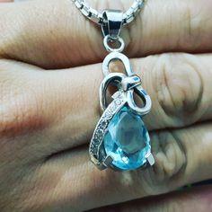 #handmade blue topaz pendant
