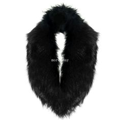 Women-Faux-Raccoon-Fur-Fluffy-Collar-Scarf-Shawl-Stole-Shrug-Cape-Muffler-Wrap $8 free shipping