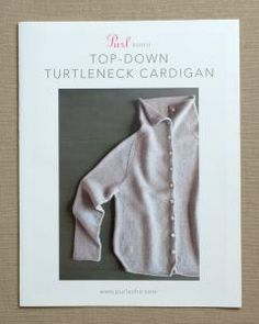 purl soho | products | item | top-down turtleneck cardigan (purl soho)